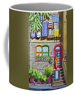 Apartment With Red Door Coffee Mug