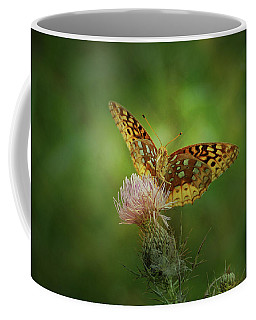 Coffee Mug featuring the photograph Aphrodite Fritillary Butterfly by Sandy Keeton