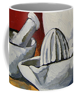 Coffee Mug featuring the painting Apilco No. 4 by Erin Fickert-Rowland