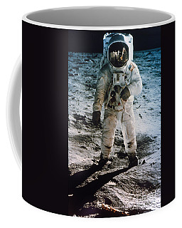 Coffee Mug featuring the photograph Apollo 11 Buzz Aldrin by Granger