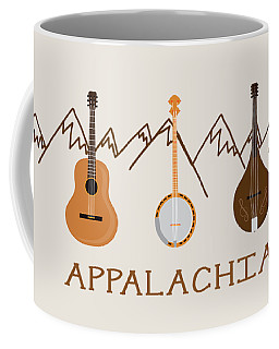 Coffee Mug featuring the digital art Appalachia Mountain Music by Heather Applegate