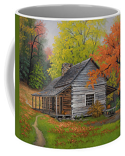 Coffee Mug featuring the painting Appalachian Retreat-autumn by Kyle Wood