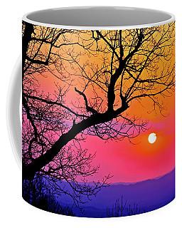 Appalcahian Sunset Tree Silhouette  #1 Coffee Mug