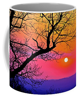 Appalcahian Sunset Tree Silhouette  #1 Coffee Mug