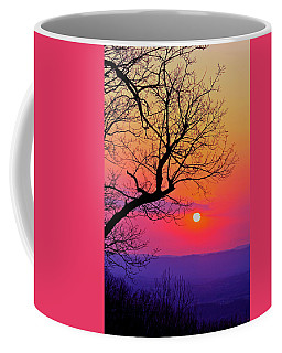 Appalcahian Sunset Tree Silhouette #2 Coffee Mug