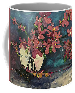 Apple Blossom In Vase Coffee Mug