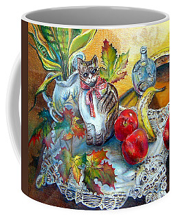 Apple Cat Coffee Mug