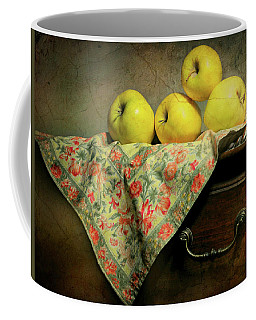 Coffee Mug featuring the photograph Apple Cloth by Diana Angstadt