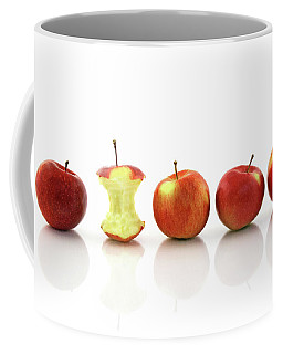 Apple Core Among Whole Apples Coffee Mug by GoodMood Art