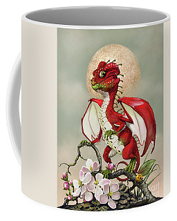 Coffee Mug featuring the digital art Apple Dragon by Stanley Morrison
