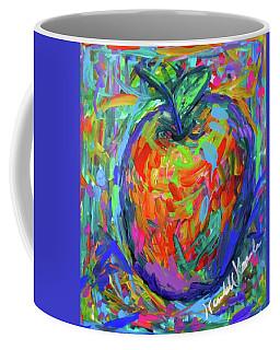 Coffee Mug featuring the painting Apple Splash by Kendall Kessler