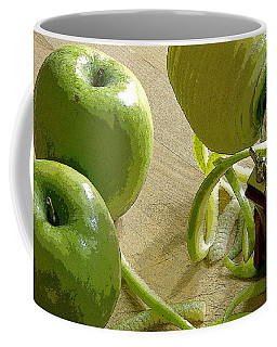 Apples Getting Peeled Coffee Mug