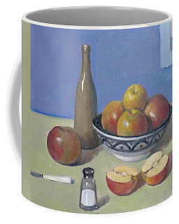Apples In Moroccan Bowl, Salt And Vintage Bottle Coffee Mug
