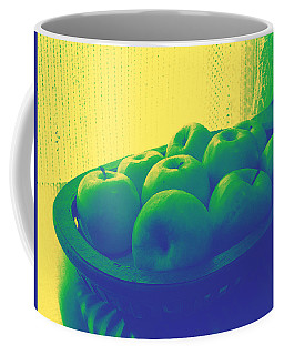 Apples In Yellow Blue And Green Coffee Mug