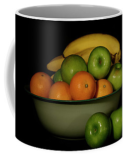 Coffee Mug featuring the photograph Apples, Oranges And Bananas 1 by Angie Tirado