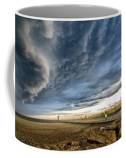 Coffee Mug featuring the photograph Approaching Storm by Steven Santamour