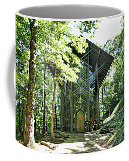 Coffee Mug featuring the photograph Approaching Thorncrown Chapel by Cricket Hackmann