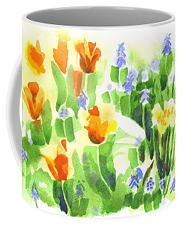 Coffee Mug featuring the painting April Flowers 2 by Kip DeVore
