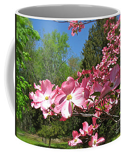 Coffee Mug featuring the photograph April In Bloom by Nancy Patterson