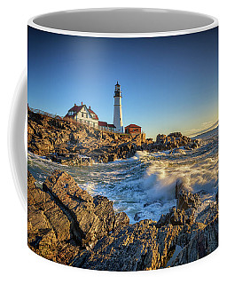 April Morning At Portland Head Coffee Mug by Rick Berk