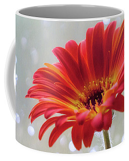 Coffee Mug featuring the photograph April Showers Gerbera Daisy Square by Terry DeLuco