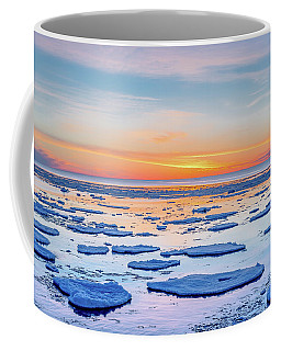 April Sunset Over Lake Superior Coffee Mug