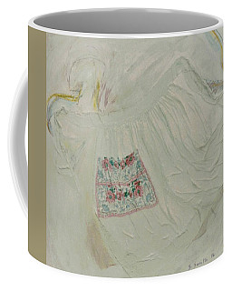 Apron On Canvas - Mixed Media Coffee Mug