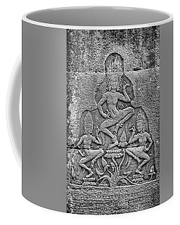 Coffee Mug featuring the photograph Apsaras 3, Angkor, 2014 by Hitendra SINKAR