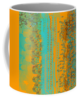 Aqua And Copper Abstract Coffee Mug