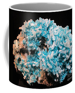 Coffee Mug featuring the photograph Aqua And White Gemstone by Barbara Yearty