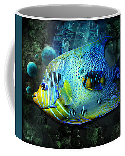 Aqua Fantasy Art World Coffee Mug