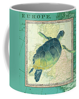 Aqua Maritime Sea Turtle Coffee Mug