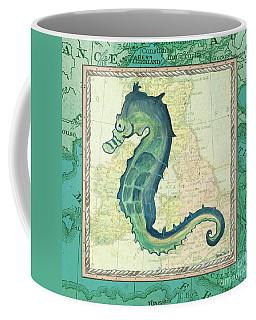 Aqua Maritime Seahorse Coffee Mug