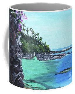 Coffee Mug featuring the painting Aqua Passage by Judy Via-Wolff