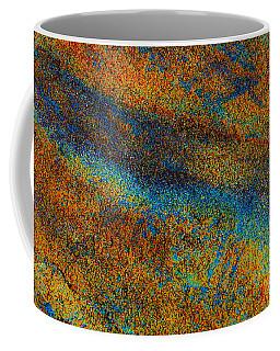 Aqua Stone Rust Abstract Coffee Mug