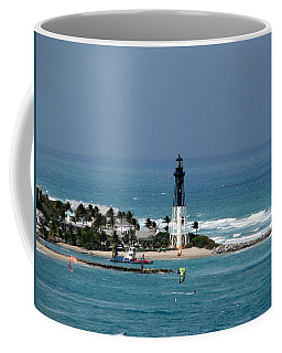 Aqua Water At The Lighthouse Coffee Mug