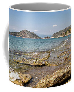 Coffee Mug featuring the photograph Aqua Waters by Shirley Mitchell