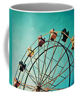Aquamarine Dream - Ferris Wheel Art Coffee Mug