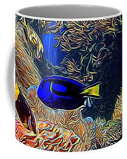 Aquarium Adventures In Abstract Coffee Mug