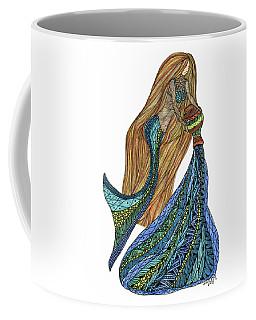 Coffee Mug featuring the drawing Aquarius by Barbara McConoughey