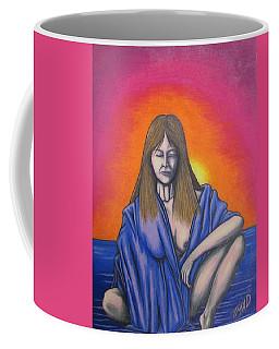 Coffee Mug featuring the drawing Aquarius by Michael  TMAD Finney