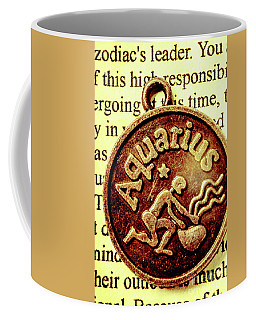 Coffee Mug featuring the photograph Aquarius Zodiac Sign by Jorgo Photography - Wall Art Gallery