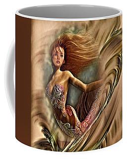 Coffee Mug featuring the digital art Aquatic Dream by Kathy Kelly