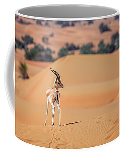 Coffee Mug featuring the photograph Arabian Gazelle by Alexey Stiop