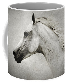 Arabian White Horse Portrait Coffee Mug