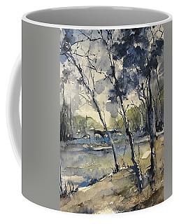 Arbres Bleus     Blue Trees Coffee Mug
