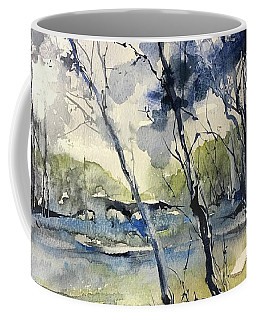 Arbres Bleus Coffee Mug by Robin Miller-Bookhout