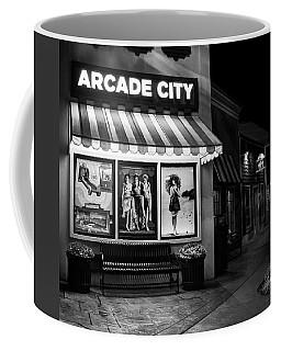 Arcade City In Black And White Coffee Mug