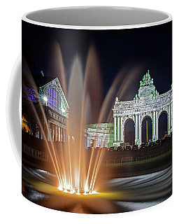 Arcade Du Cinquantenaire Fountain At Night - Brussels Coffee Mug