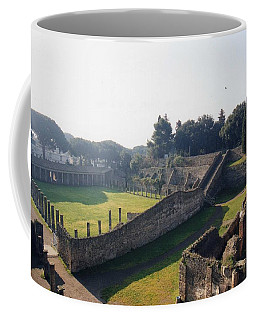 Arcaded Court Of The Gladiators Pompeii Coffee Mug by Marna Edwards Flavell